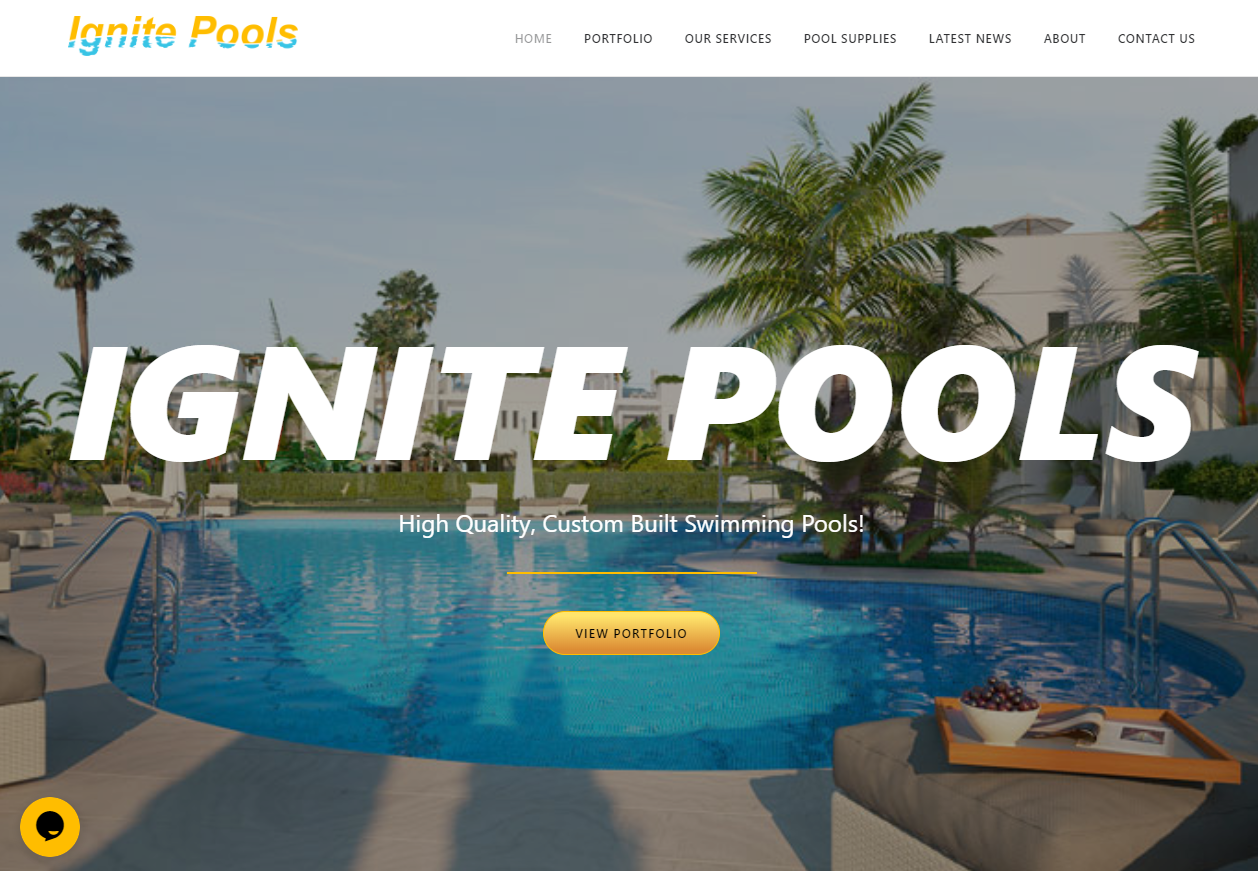 Ignite Pools Website